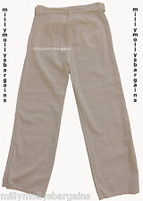 New Womens Marks and Spencer White Linen Trousers Size 16 Short LABEL FAULT