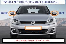 VW GOLF MK7 WING MIRROR COVERS 2013-2016 (NEW) PAINTED ANY VW COLOUR BOTH SIDES