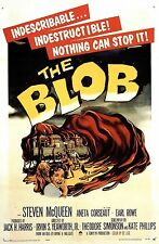 Framed Retro Movie Poster – The Blob 1958 (Replica Print Horror Cinema Film Art)