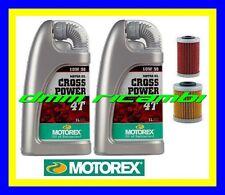 Kit Tagliando KTM 525 SX 03 07 Filtri Olio MOTOREX Cross Power 10W/50 2003 2007
