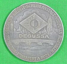 1942 German Germany Calendar Table Medal for Gold and Silver Degussa Industries