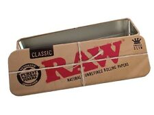 1X Raw Roll Caddy Metal Tin Rolling Paper Cone Case Holder King-Size