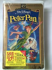 Peter Pan Disney Masterpiece Collection 30th Anniversary Edition VHS Tape Sealed