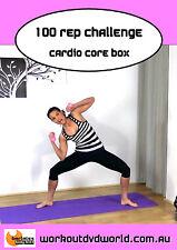 Abs EXERCISE DVD Barlates Body Blitz 100 REP CHALLENGE CARDIO CORE BOX