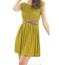 Sugar Size 12 Green Avacado Cap Sleeve Short Stretch Mini Sun Dress BNWT