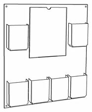 """Wall Mount 8.5"""" x 11"""" Sign and Brochure Pamphlet Holder Display"""