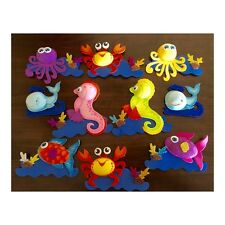 "Sea world animals 4"" foam decorations Baby Shower Diaper cakes decor, pack of 10"