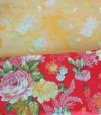 3 Yards HBR-901 Upholstery Faux Silk Chinese Art.Silk Brocade Fabric Red Floral