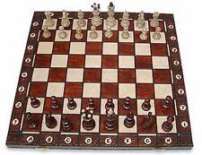 Schach; Schachspiel SENATOR Schachbrett 42 x 42 cm, Holz, Neu