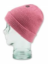 2016 NWT WOMENS VOLCOM YEAH BEANIE $22 one petal pink ultra soft tight knit logo