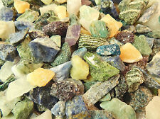Rough Gemstones Crystals Mix Lapidary Cabbing Tumbling Rocks Stones 1/2 Lb Lot