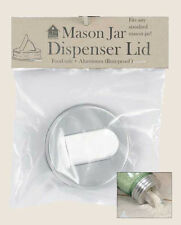 Farmhouse/Cottage/Primitive/Country Mason Jar Aluminum Grain Dispenser Lid