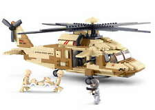Sluban Black Hawk Helicopter. LEGO compatible B0509 Includes soldiers and guns
