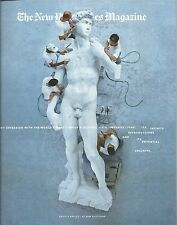 NEW YORK TIMES MAGAZINE AUGUST 21, 2016 MICHELANGELO'S DAVID ON THE COVER