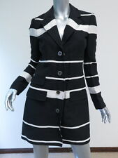 Juicy Couture Wide Stripe Coat Black/Angel Size Small $398 New with Tags