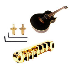 Durable Golden Roller Saddle Locking Tune-O-Matic Bridge For Les Paul Guitar