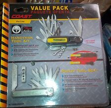 Coast Pocket Tool Box + Handyman Tool Kit Professional Grade Multi Function