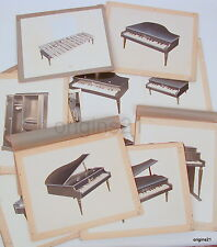 vintage Group of advertising mockup Schoenhut Toys PIANO doll furniture etc