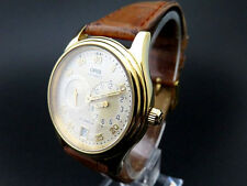 VERY RARE!! ORIS Automatic Men's Watch 27 JEWELS 7473 649 Date 18K Gold Plated
