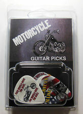 """MOTORCYCLE"" Guitar Pick Pack, 6 Picks .71mm Clamshell, pics, plectrums"