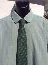 """Ralph LAUREN Polo Camicia di cotone verde 44"""" petto Buster Keaton COLLARE e.u.c."""