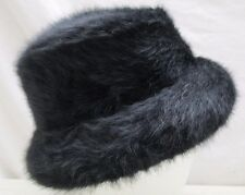 Vintage Kates Boutique Canada Women's Hat Black Faux Fur Warm Winter