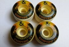 4 x EXPEDITION EMPIRE SKATEBOARD WHEELS 53mm - COMPLETE SET - LONGBOARD - NEGRAS