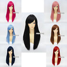 Halloween Stylish Straight 55CM Long Women Lady 20 Colors Anime Cosplay Hair Wig