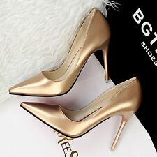 Shiny PU Candy Colors Nice Red Sole Work OL Shoes Elegant Slim High Heels Pumps