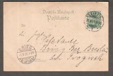 1901 Rathaus-Ring post card Leipzig Germany to Brieg bei Breslau