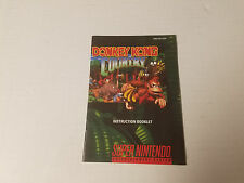 Snes Donkey Kong Country Instruction Manual  Booklet Only Nintendo
