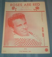 1962 Sheet Music Bobby Vinton Cover Roses Are Red My Love Red ink cover