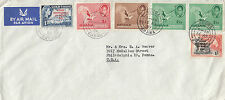 M 149 Ghana Accra airmail 1959 cover  to USA; 2/- rate; 6 stamps!