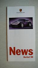 Prospekt Porsche News Herbst 98-Carrera 4, Aerokit 996 etc., 9.1998, 12 Seiten