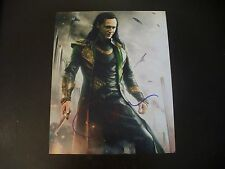 "Tom Hiddleston (Loki) Rare In Person Hand Signed ""The Avengers"" 8x10 With COA #3"