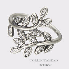 Authentic Pandora Sterling Silver Sparkling Leaves CZ Ring Size 54 (7) 190921CZ