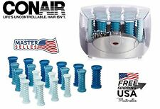 Conair Compact MultiSize Hot Rollers Curler Clips Hair Seter Styling Heating Set