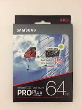 Samsung PRO+ 64GB microSDXC Class 10 UHS-1 Memory Card - Black/White