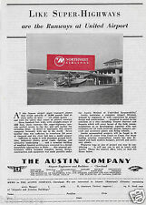 UNITED AIR LINES 1930 BURBANK AIRPORT AUSTIN COMPANY SIKORSKY S-39A TERMINAL AD