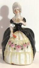 Figural Bell, Porcelain, Vintage, Victorian Lady