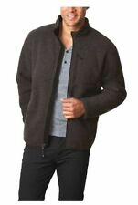 NEW 32 Degrees Heat Men's Full Zip Sherpa-Lined Fleece Jacket Dk Grey Heather L