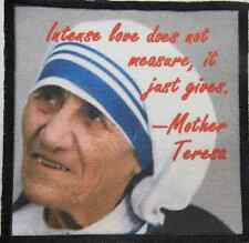 MOTHER TERESA QUOTE - It's all about intense love - Printed Patch - Sew On