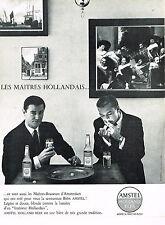 PUBLICITE ADVERTISING 054  1964  AMSTEL   bière  LES MAITRES HOLLANDAIS
