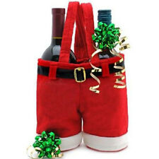 Christmas Wine Bottle Cover Holder Candy Bag Stocking Xmas Party  Santa Pants