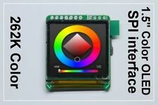 """SPI 1.5"""" Color OLED display for Arduino ( compatible PIC / AVR / ARM )"""