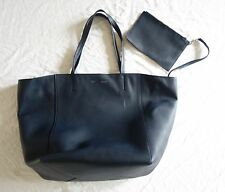 AUTHENTIC CELINE NAVY LEATHER CABAS PHANTOM TOTE BAG (PERFECT FOR EVERYDAY) ~
