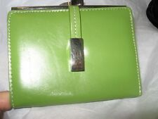 Mundi French Purse Credit Card Leather Wallet, Lime Green