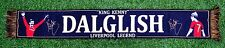 "KENNY DALGLISH ""KING KENNY"" LIVERPOOL LEGEND FOOTBALL SCARF BLACK"