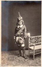 BJ268 Carte Photo vintage card RPPC Enfant jeune fille déguisement kilt ecossais
