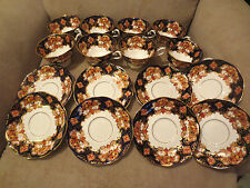 ROYAL ALBERT Bone China England Crown Stamp HEIRLOOM Set 16 pcs Cup & Saucer